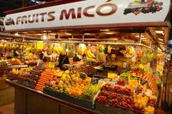 Boqueria market, Barcelona, Spain Royalty Free Stock Images