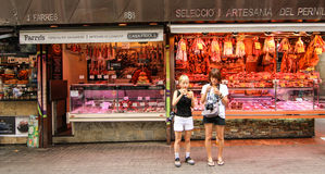 Boqueria market at lunch time Royalty Free Stock Photos