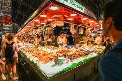 Boqueria market products Royalty Free Stock Images