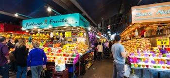 Boqueria rynek. Barcelona, Hiszpania Obraz Stock
