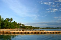 Boqueron Beach Pier at Puerto Rico Stock Photography
