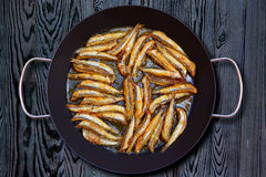 Boquerones fritos Mediterranean fried anchovies Royalty Free Stock Photos