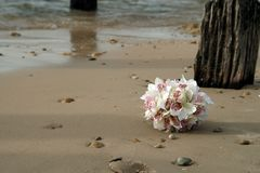 Boquet on the Beach. Wedding Bridal Boquet on the Beach Stock Images