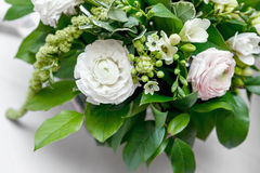Boquet of flowers. The Boquet of flowers on arranged table royalty free stock images