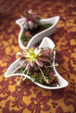 Boquet of flowers. The Boquet of flowers on arranged table stock photos