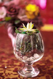 Boquet of flowers. The Boquet of flowers on arranged table royalty free stock photography