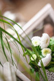 Boquet of flowers. The Boquet of flowers on arranged table stock images