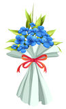 A boquet of flowers. Illustration of a boquet of flowers on a white background Stock Photos