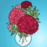 Boquet fresco in un vaso fotografia stock libera da diritti