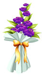 A boquet of fresh violet flowers Stock Images
