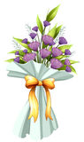 A boquet of violet flowers Stock Photos