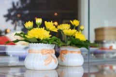 Boquet of yellow flowers Stock Photography