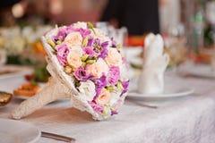 boquetbröllop Fotografering för Bildbyråer