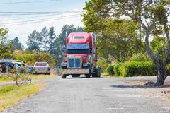 Truck in maneuver royalty free stock photos