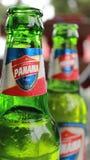 Boquete, Panama - augusto, 8, 2014: La birra Panama è il più forte venditore della birra del rivenditore nel paese Fotografia Stock