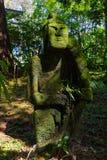 Enchanted garden park statue Royalty Free Stock Image