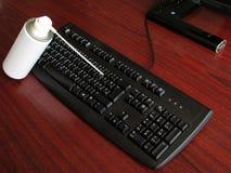 Boquilla de aerosol con el teclado Imagen de archivo