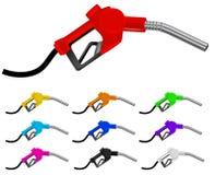 Boquilla de gas colorida stock de ilustración
