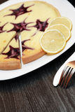 Borówczany Cheesecake Fotografia Stock