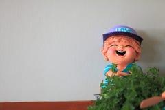 Bor улыбки, кукла глины Стоковые Изображения RF