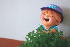 Bor улыбки, кукла глины Стоковые Изображения