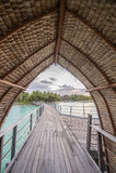 Bor bor overwater bungalow Obrazy Stock