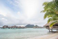 Bor bor Tahiti overwater bungalow Fotografia Stock