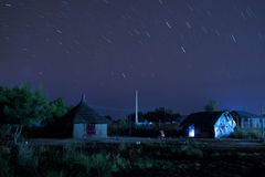 Bor sudan with star trails. Bor Sudan at night with star trails Royalty Free Stock Image