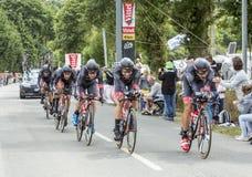 Bora-аргон 18 команды - проба 2015 времени команды Стоковое Изображение RF