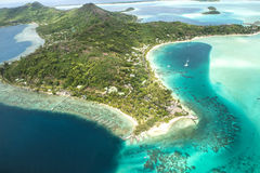 Bora Bora aerial view Royalty Free Stock Photo