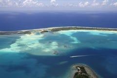 Bora bora aerial view stock photo