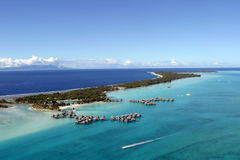 Bora Bora from the air Stock Photography