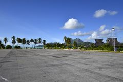 Bora Bora Airport Royalty Free Stock Photo