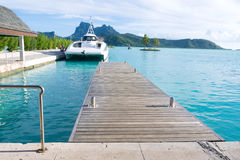 Bora Bora airport Stock Photo