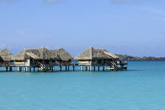 Bora bora bungalows royalty free stock images