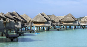 Bora bora bungalows stock images