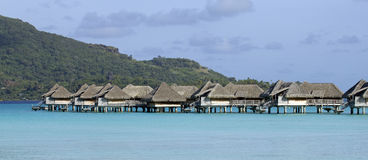 Bora bora bungalows stock photo