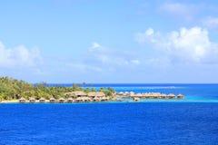 Bora Bora bungalows Royalty Free Stock Photos