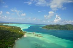Bora Bora franska Polynesien arkivfoto