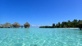 bora bora french polynesia tropical island view on the lagoon royalty free stock image