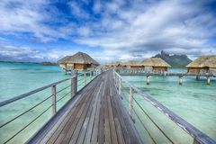 Bora-Bora Idyllic Paradise Island Arkivbild