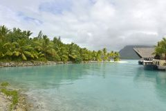 Bora-Bora Idyllic Paradise Island Royalty Free Stock Photo