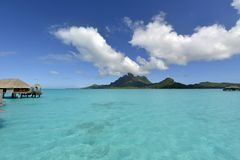 Bora-Bora Idyllic Paradise Island Stock Photo