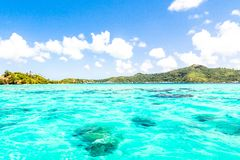 Bora Bora Island, French Polynesia. A true paradise with turquoise water. Destination sought by couples on honeymoon. Bora Bora Island, French Polynesia. A Royalty Free Stock Images