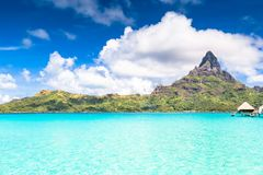 Bora Bora Island, French Polynesia. A true paradise with turquoise water. Destination sought by couples on honeymoon. Bora Bora Island, French Polynesia. A Royalty Free Stock Photo