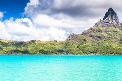 Bora Bora Island, French Polynesia. A true paradise with turquoise water. Destination sought by couples on honeymoon. Bora Bora Island, French Polynesia. A Royalty Free Stock Image