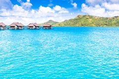 Bora Bora Island, French Polynesia. A true paradise with turquoise water. Destination sought by couples on honeymoon. Bora Bora Island, French Polynesia. A Stock Images