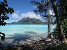 Bora Bora Island Scene Polynesia Island. Lagoon Beach Bora Bora French Polynesia Royalty Free Stock Photo