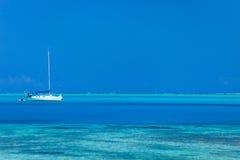 Bora Bora lagoon Royalty Free Stock Photos