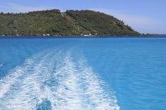 Bora Bora lagun Arkivfoto